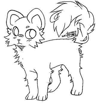 F2u Lines Fluffy Fur By Goldendragonart Warrior Cat Drawings Cat Drawing Tutorial Drawing Base