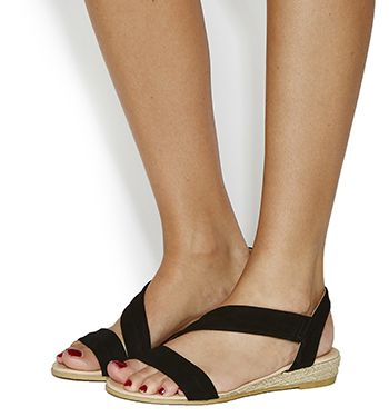 good selling large discount 100% authentic Office, Heidi Espadrille Sandals, Black Suede | f o o t w e a r ...