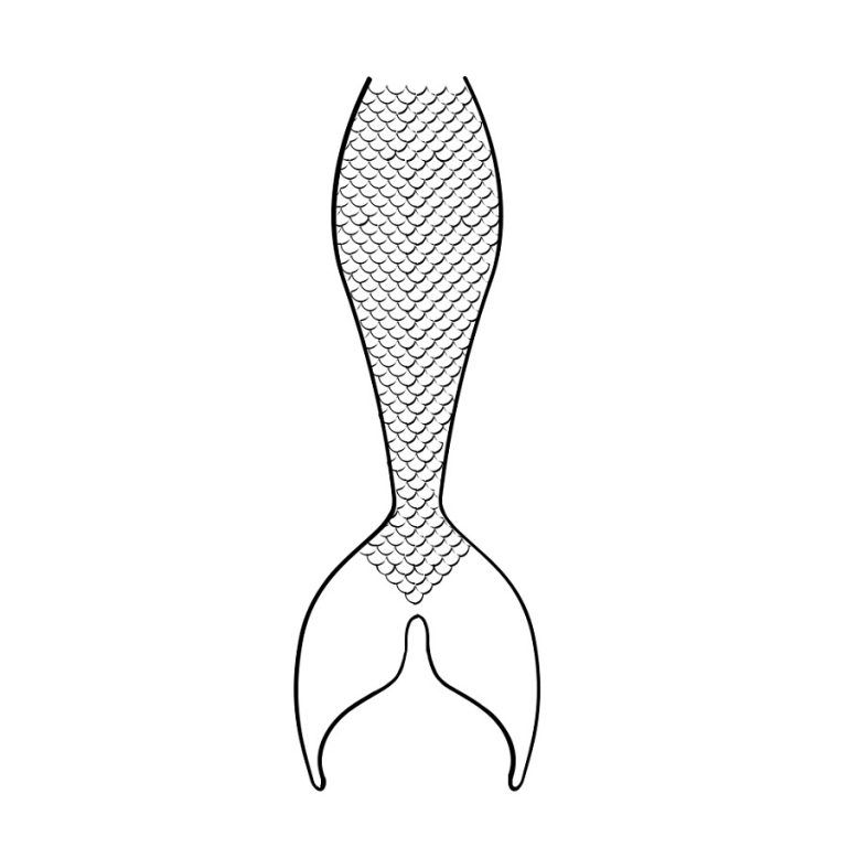 Printable Activity Sheets For Kids Mermaid Tail Coloring Pages