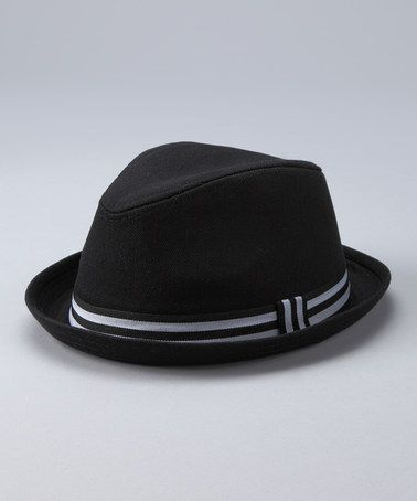 50dec2898d33a Take a look at this Black Stripe Fedora by Born to Love on  zulily today!