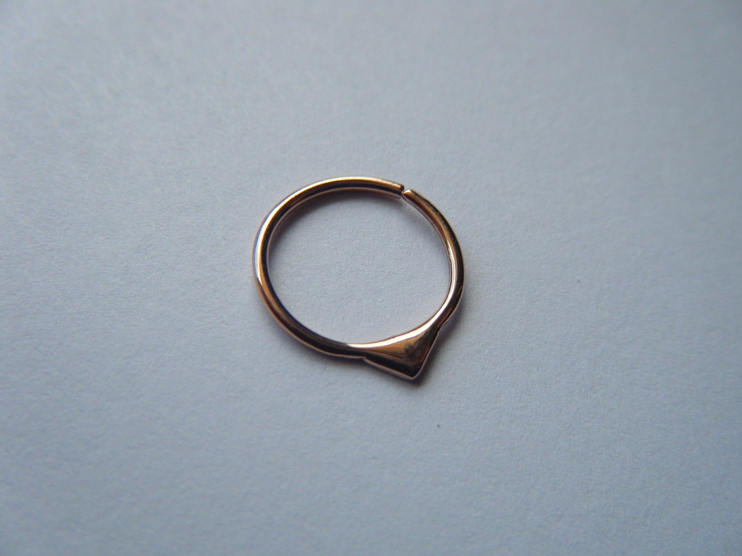Gold nose piercing  Fin  Aprilsblissed  Gold Septum Ring  Body Jewelry  Pink Gold