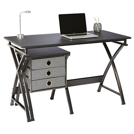 "brenton studio® x-cross desk and file set, 29 1/2""h x 47 5/8""w x"