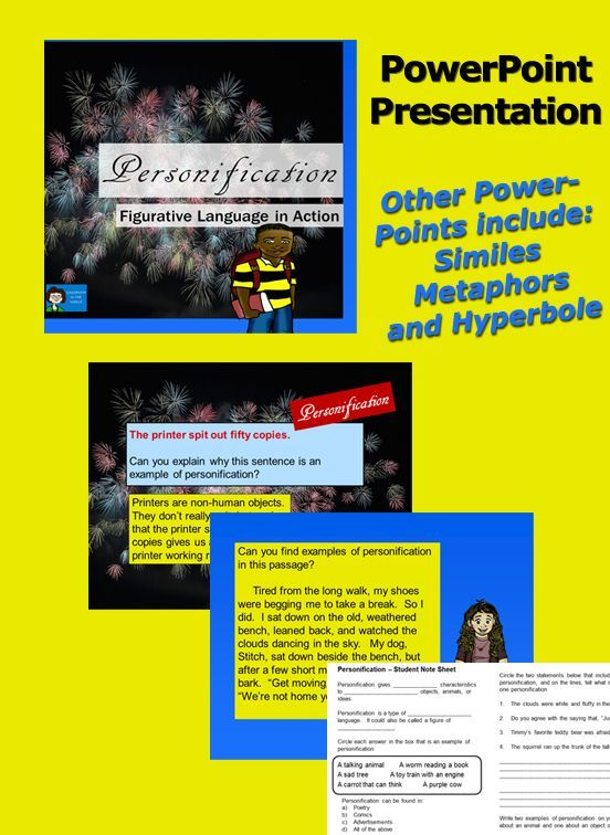 Personification Figurative Language Practice Student Learning