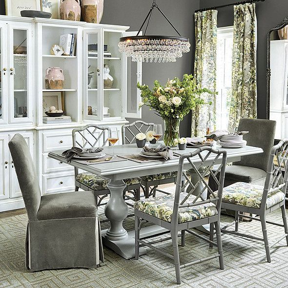 Vendome Double Pedestal Table | Ballard Designs | Table ...