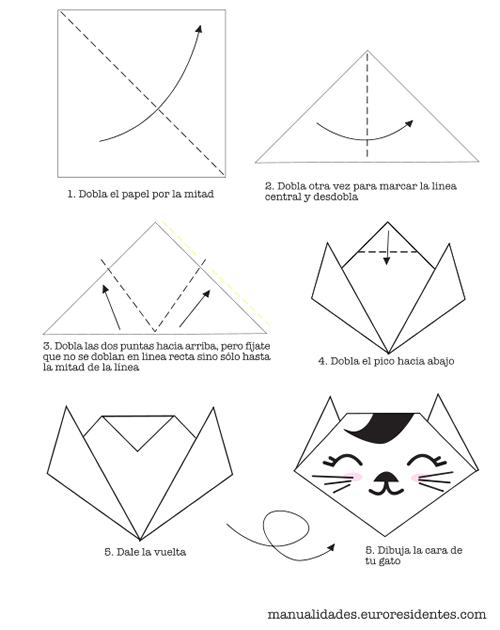 Excepcional Cómo hacer un gato de origami muy fácil | Origami and Manualidades QJ66
