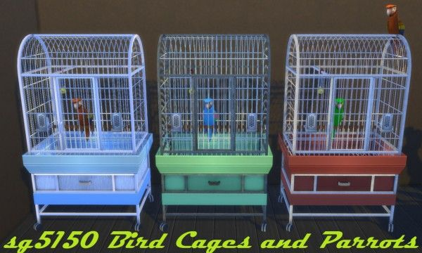 Budgie2budgie: Bird Cages and Parrots • Sims 4 Downloads Sims 4