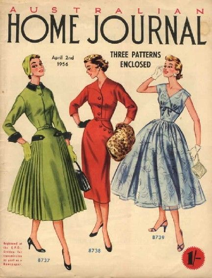 1956 Australia, Australian Home Journal | 1950s Fashion ...