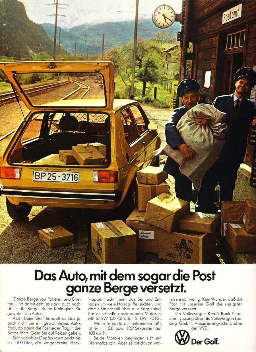 Postgolf Werbung
