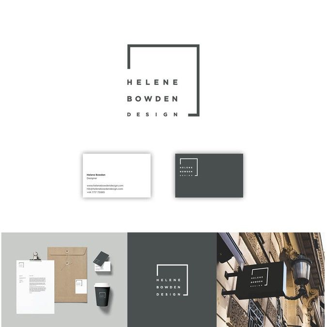 create a strong visual identity for an upcoming interior designer