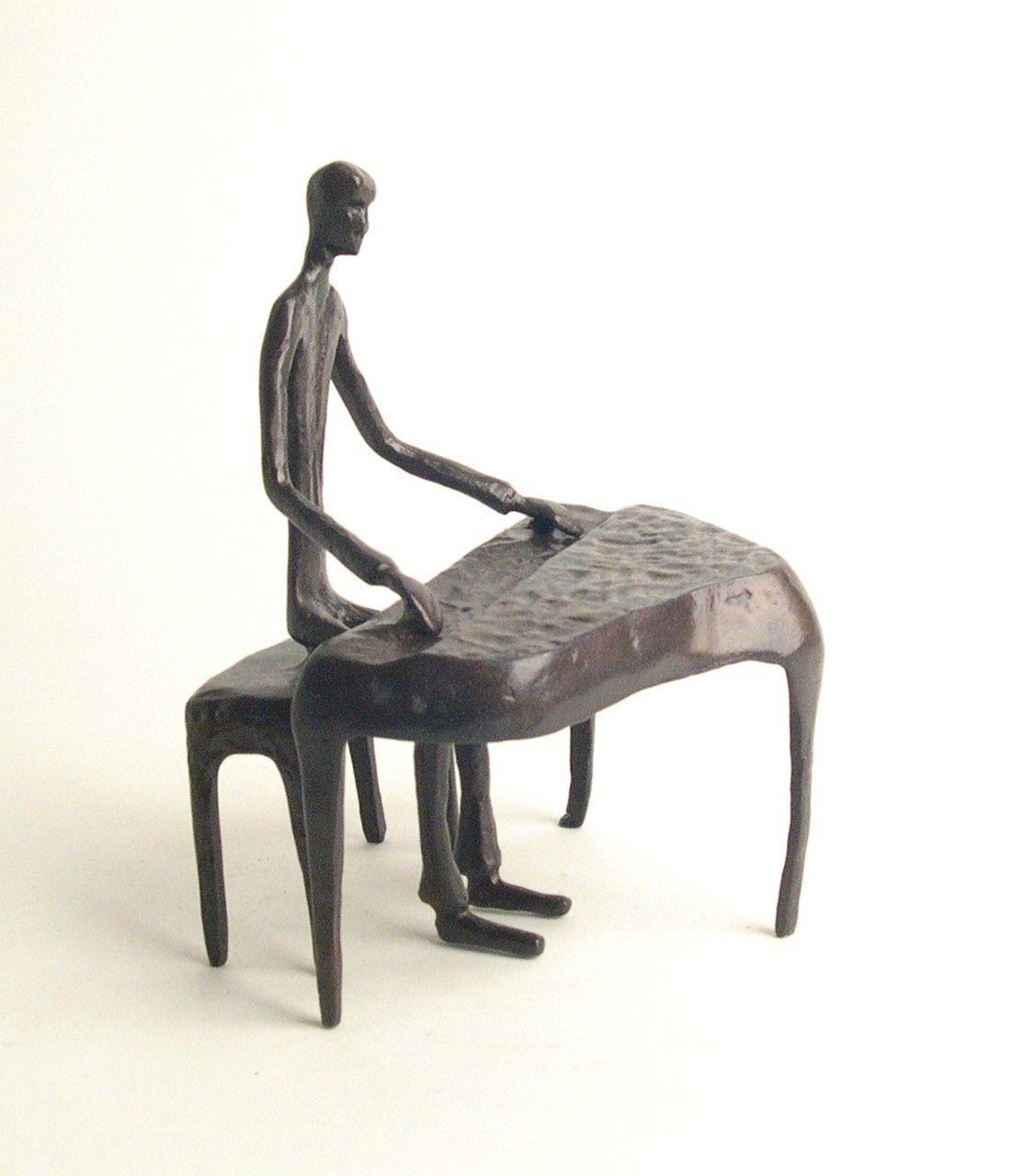 Piano Player - Cast Bronze Figurine