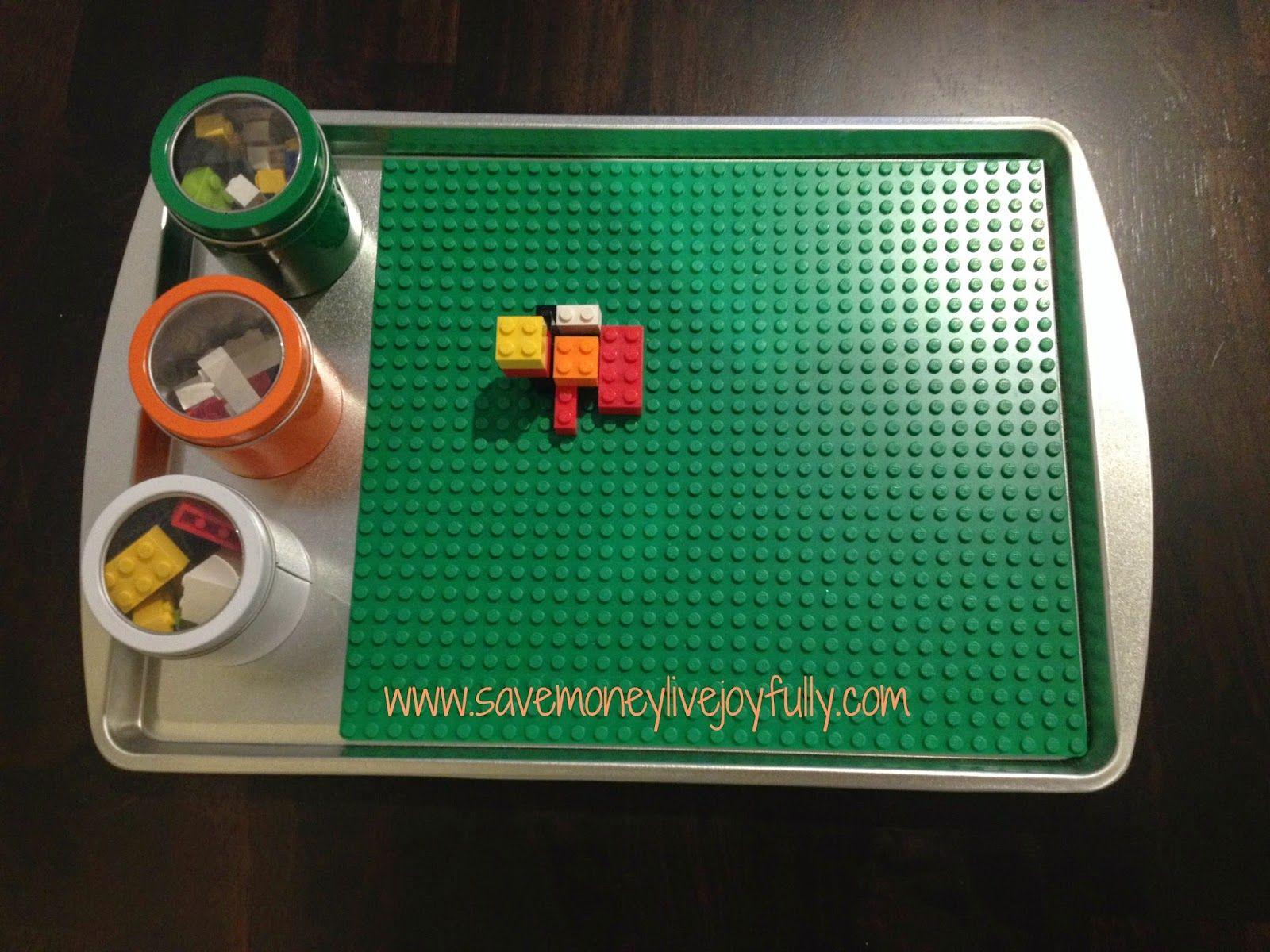 DIY Travel Lego Tray 21 DIY Lego Trays and Organization Ideas