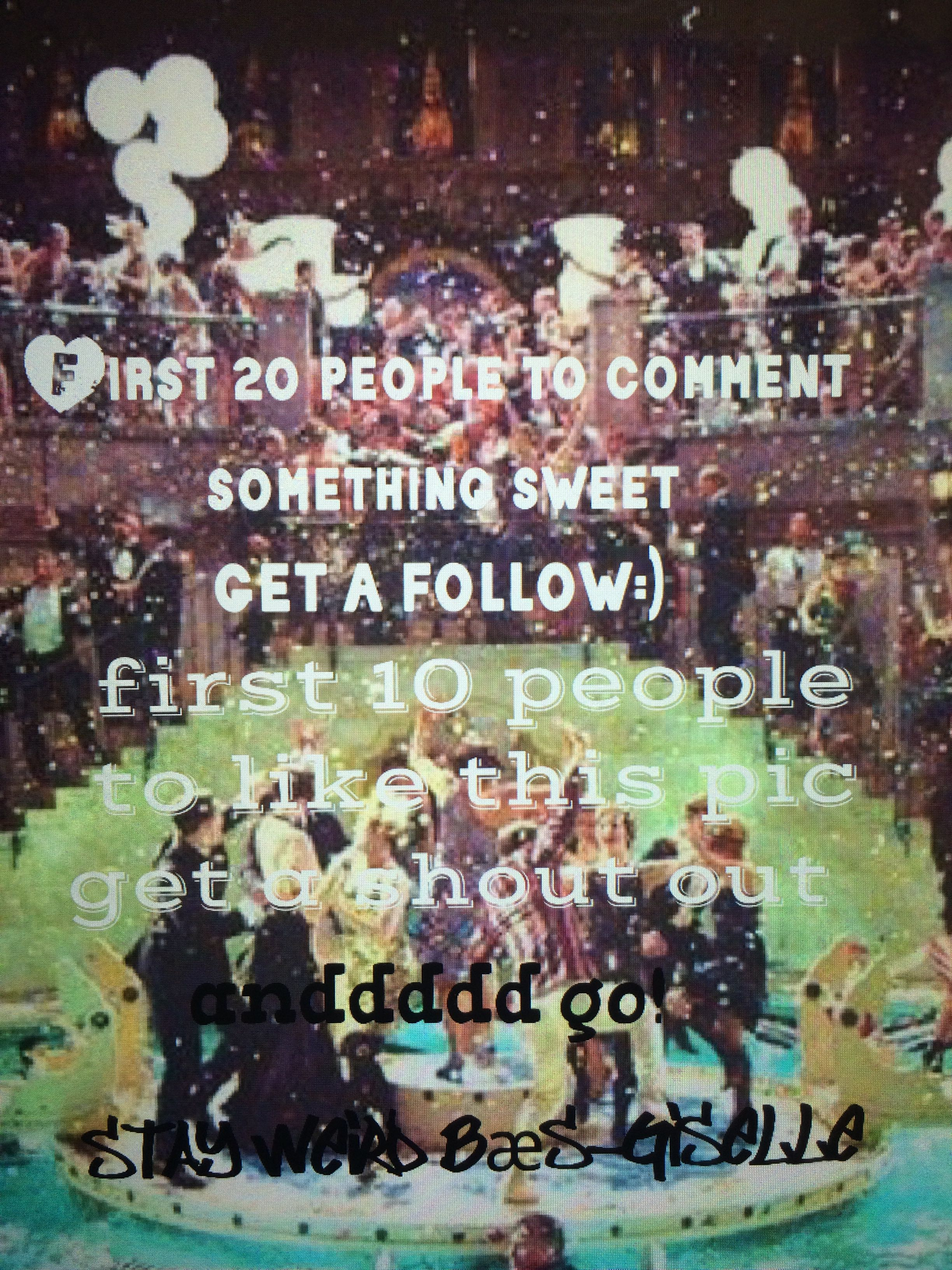 Go u must be following first