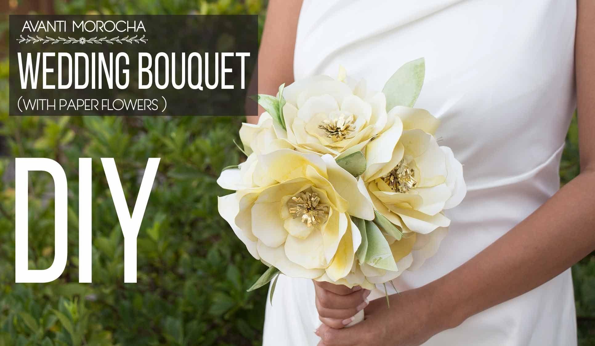Diy wedding bouquet with paper flowers bouquet de novia con flores diy wedding bouquet with paper flowers bouquet de novia con flores de izmirmasajfo