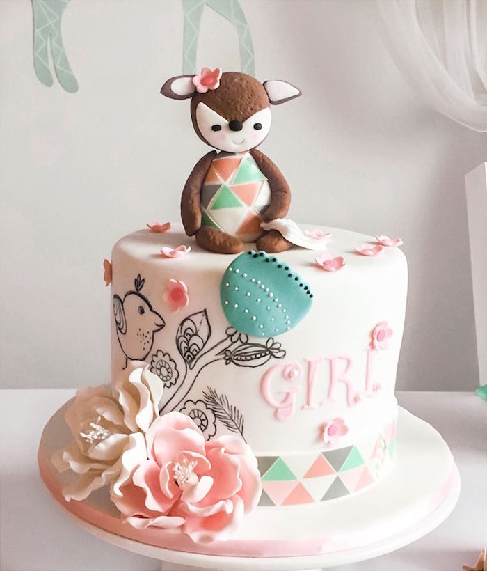 Pastel Woodland Baby Shower  Woodland Themed Party -4693