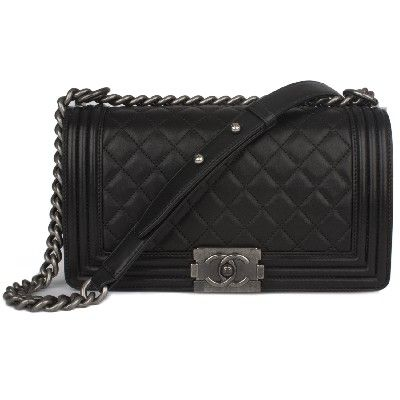 9428194f07bd Chanel Quilted Medium Boy Bag w Rutheium Hardware