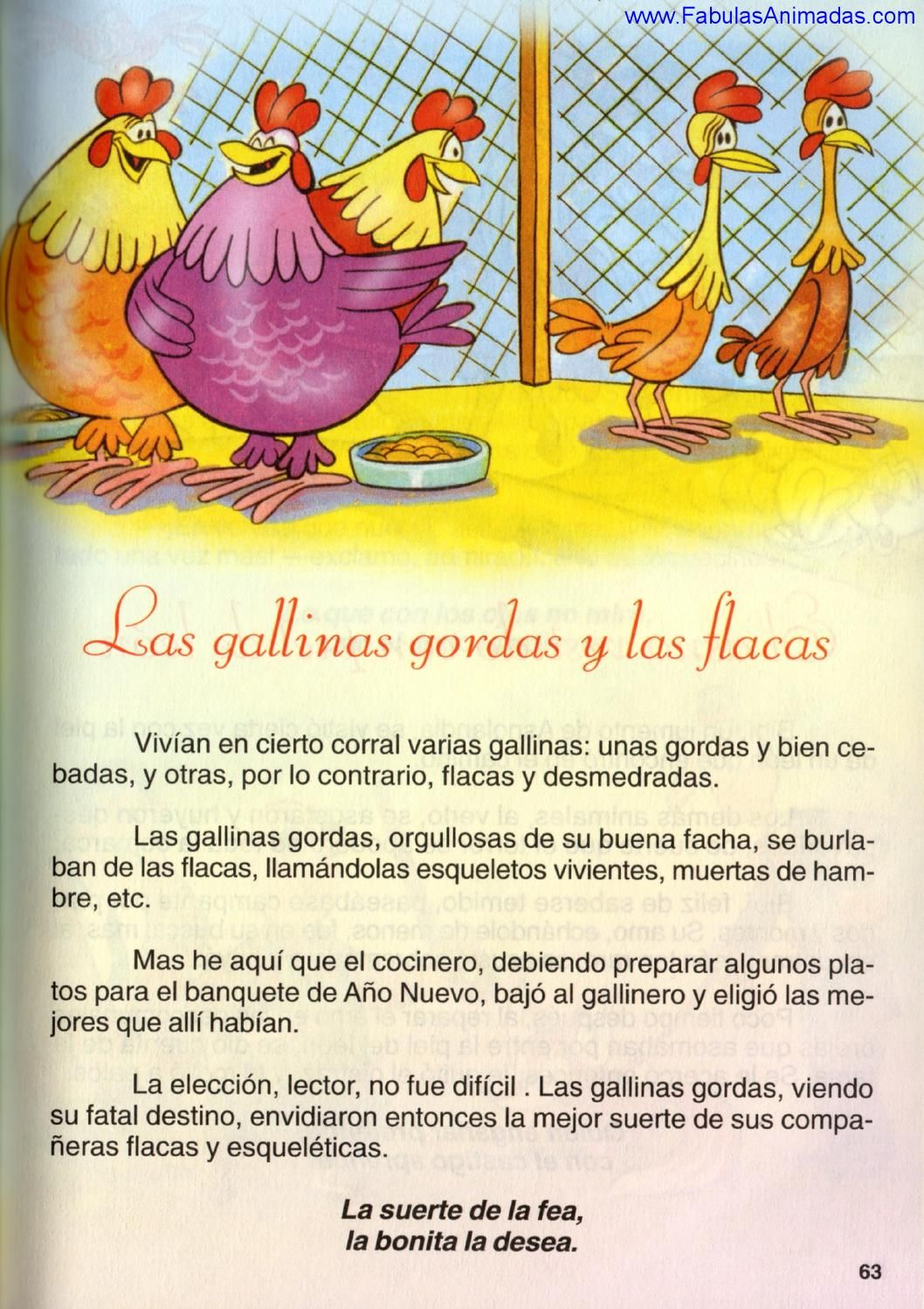 Las Gallinas Gordas Y Las Flacas Spanish Books Spanish Stories Primary Books