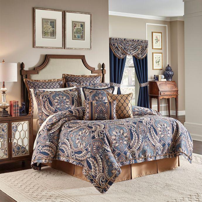 Croscill Aurelio California King Comforter Set In Blue Bb B 184