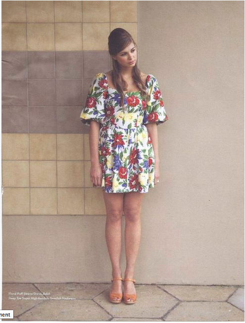 Love his look - clogs, vintage florals and long sixties inspired locks