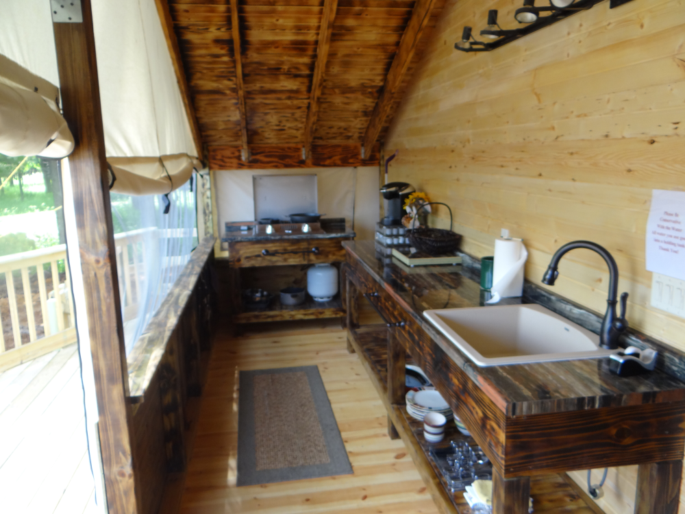 Glamping tents come with fully equipped kitchens   The 109 ...
