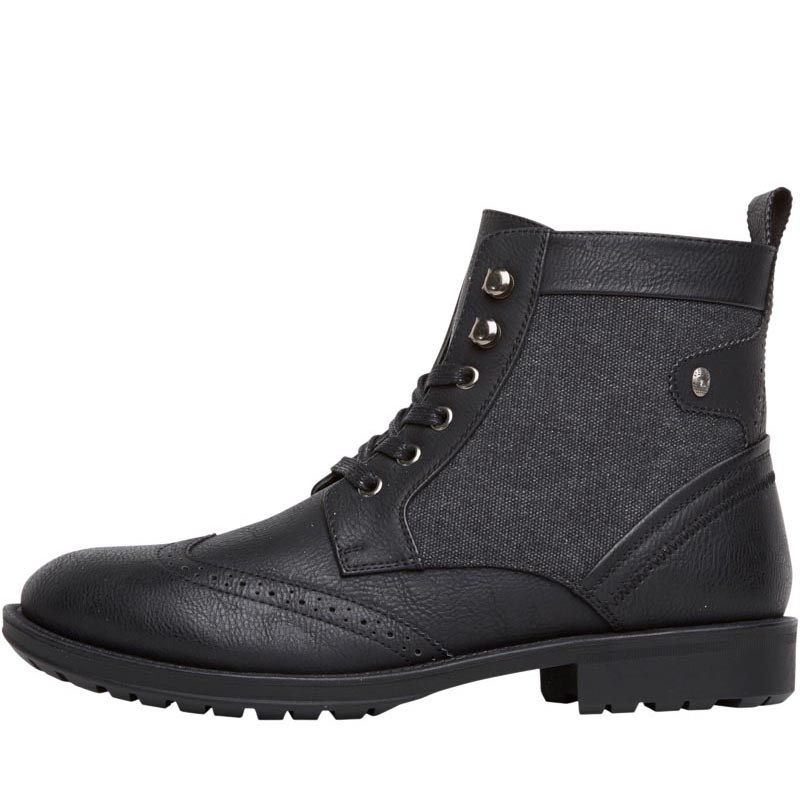 Firetrap Mens Tempo Worker Boots Black Firetrap worker boots with brogue detailing. http://www.MightGet.com/february-2017-2/firetrap-mens-tempo-worker-boots-black.asp