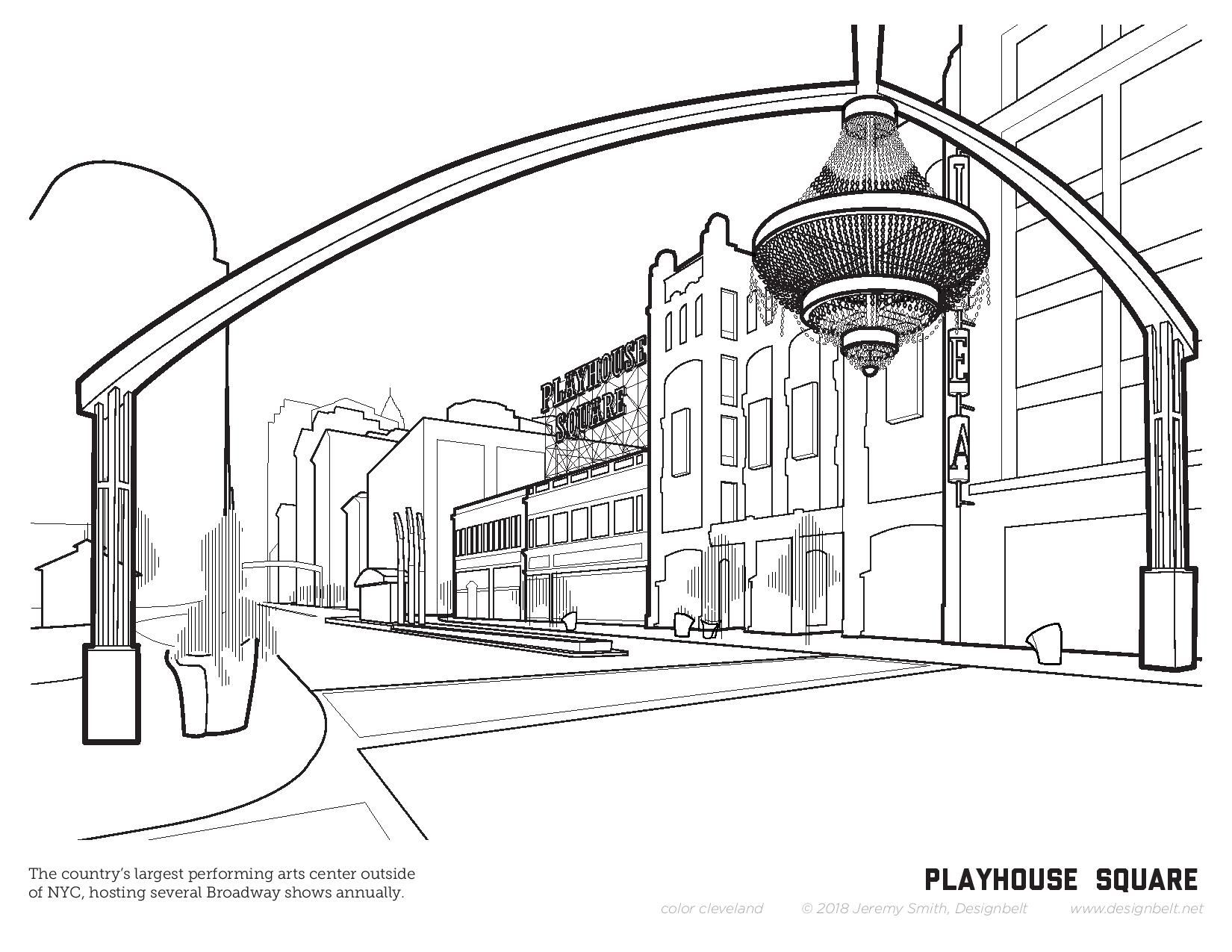 A Virtual Cleveland Coloring Book Thisiscle Cleveland Fun Color Art Happy Smile Cleveland Vacation Cleveland Coloring Pages