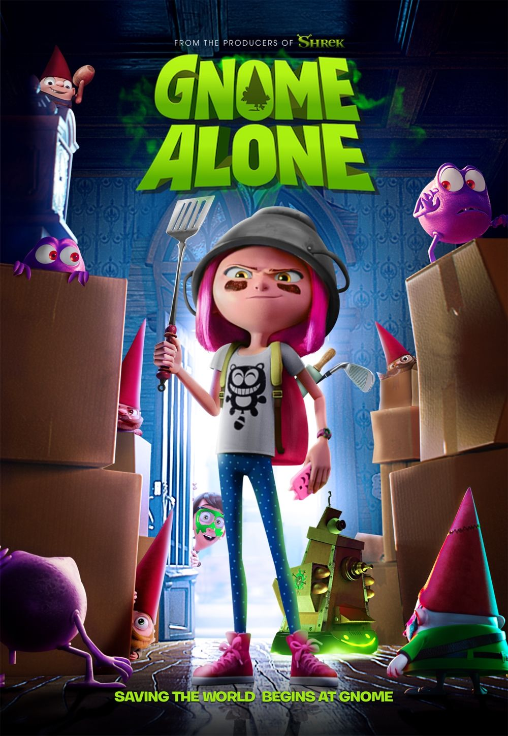 Gnome Alone Alone movies, Childrens movies, Happy movie