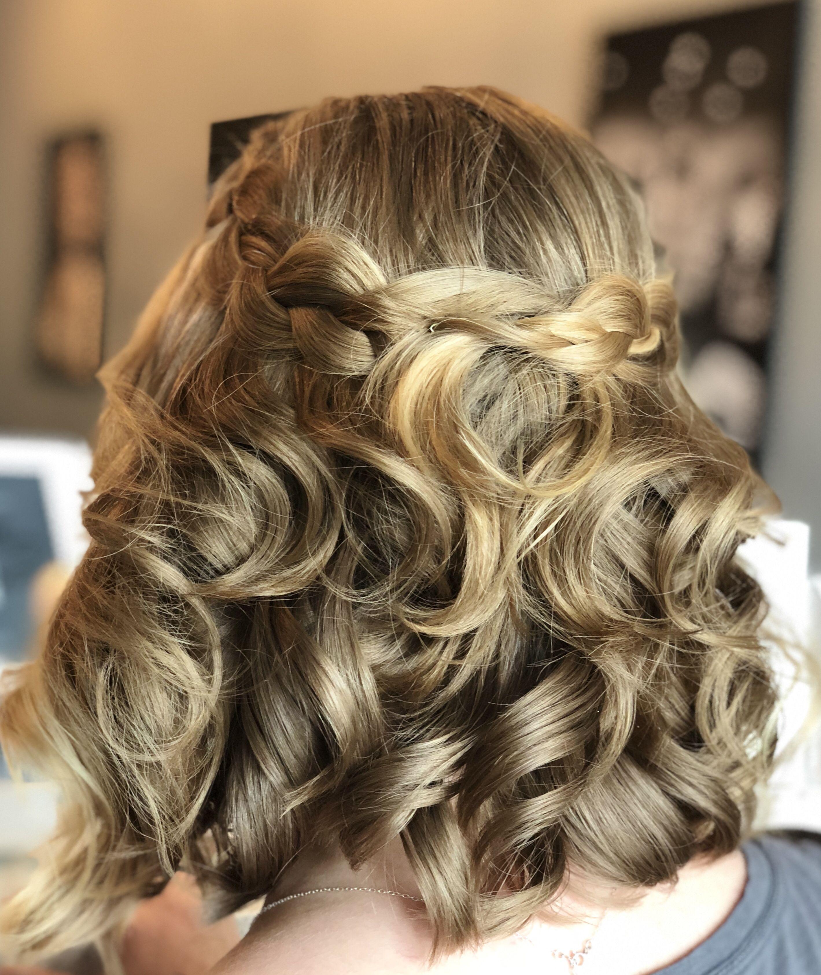 Bella Bombshells | Prom hairstyles for short hair, Braided ...