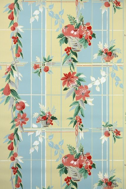 1940s Kitchen Vintage Wallpaper Vintage Wallpaper Wallpapers