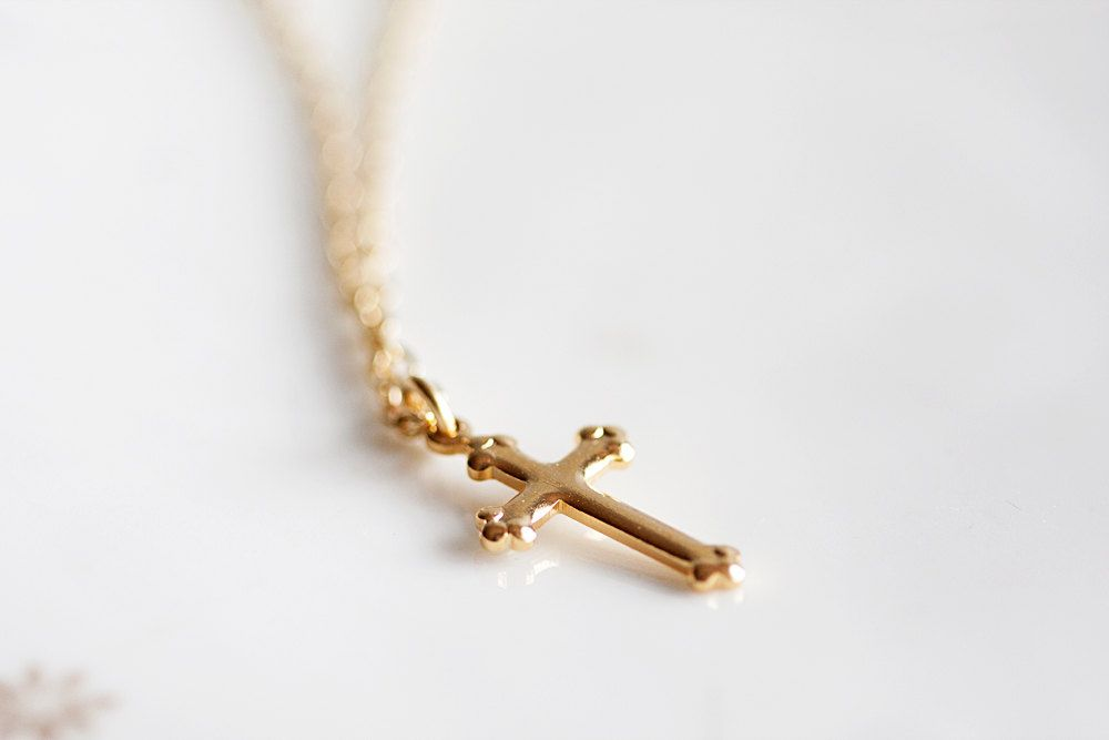 Cross Necklace,gold necklace, mens necklace, | cross necklace ...