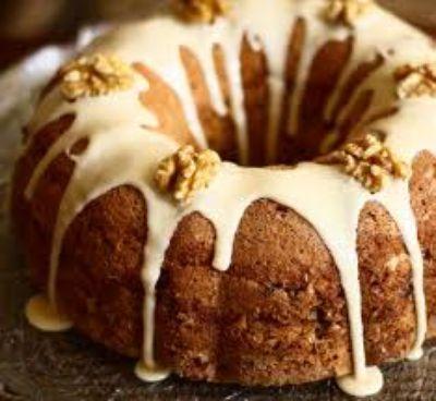Receta: Coffee cake con glaseado blanco