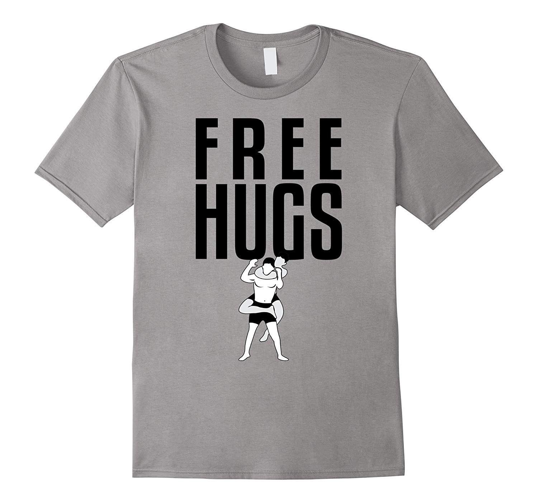 Free Hugs Jiu Jitsu Funny Fighter Martial Arts Vintage Men Cotton Black T-Shirt