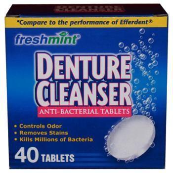 Efferdent cleaning anus