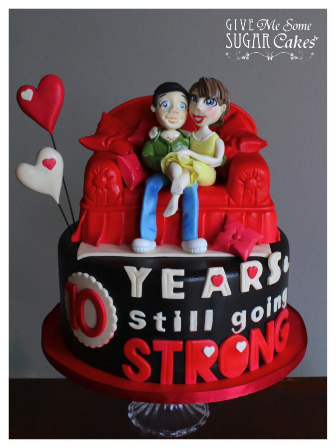 Couple In A Bed Anniversary Cake With Images Anniversary