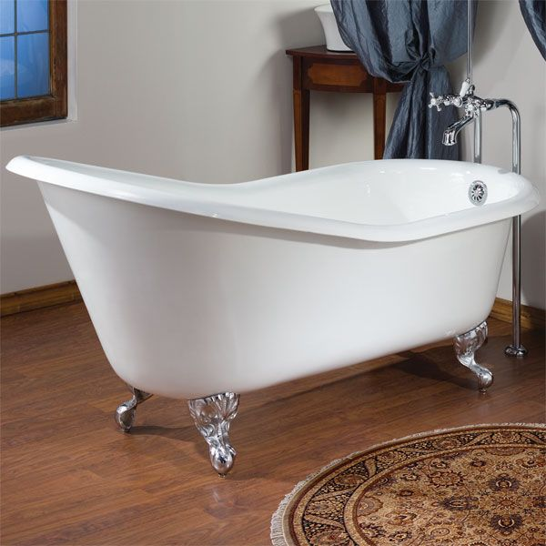 54 inch freestanding tub. 54 Inch Slipper Cast Iron Clawfoot Tub By Cheviot Products  Bathroom Pinterest