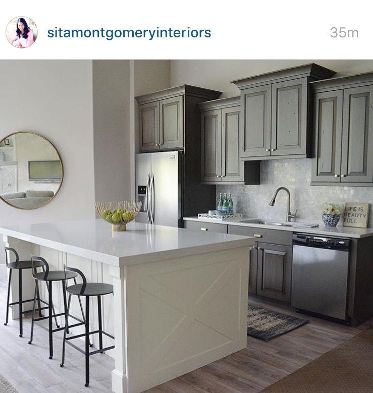 Kitchen Edgecomb Grey Benjamin Moore Novocom Top