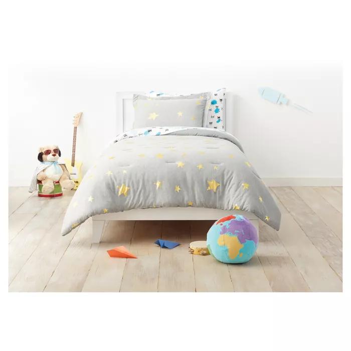 Pillowfort Jersey Stars Comforter Set - Pillowfort