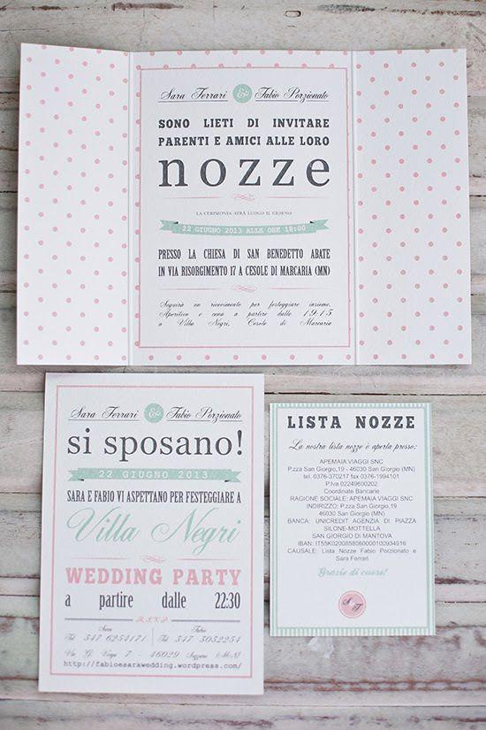 My Work Wedding Suite Sara E Fabio Pois E Righe In Menta E Rosa Inviti Di Nozze Inviti Di Nozze Fatti A Mano Inviti Per Matrimonio