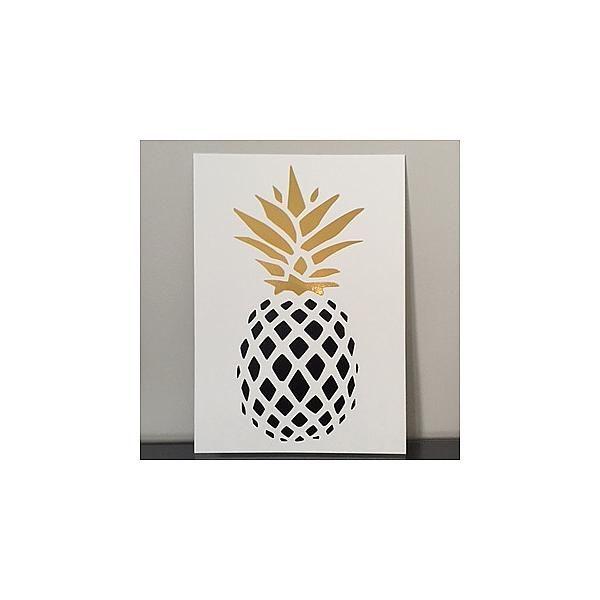 Affiche ananas noir et or mon petit l on d coration poster for Petit ananas deco