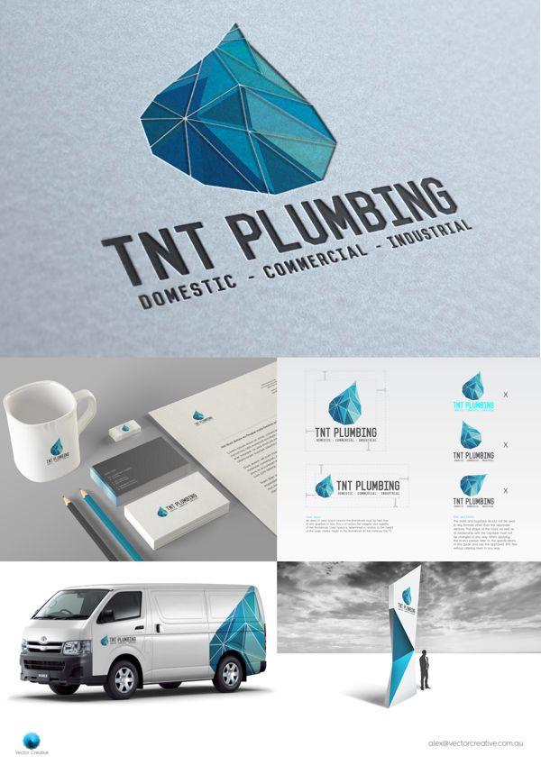 Tnt Plumbing Rebrand On Behance Plumbing Water Logo Logos Design