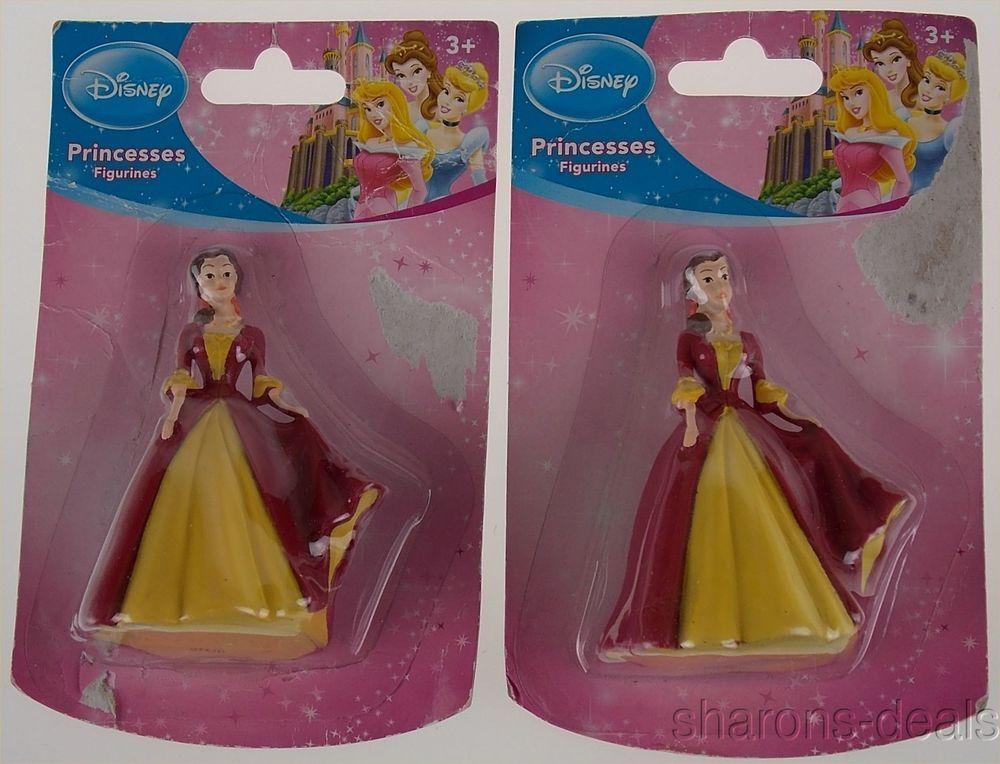 Disney princess figurines belle dolls set 2 miniature