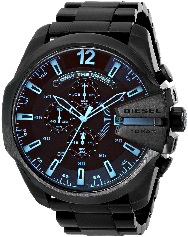 Amazon.com: Diesel Men's DZ4318 Diesel Chief Series Black Stainless Steel Watch: Diesel: Clothing