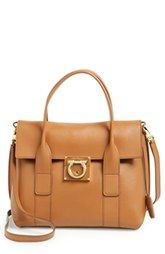 eb15020a607e Salvatore Ferragamo  Small Sookie  Leather Satchel