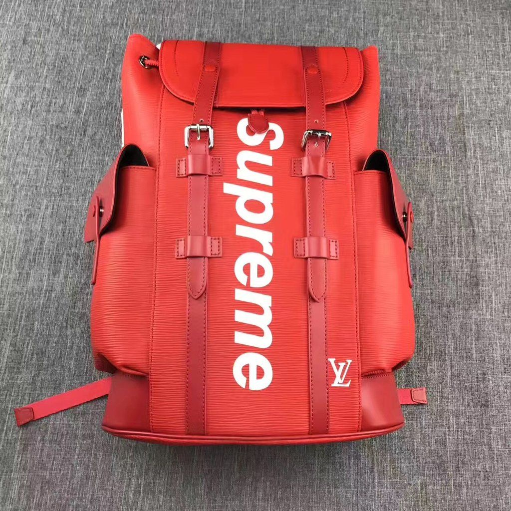 80f6e2f8b81 Louis Vuitton x Supreme Christopher Backpack Epi PM Red | Shoes ...