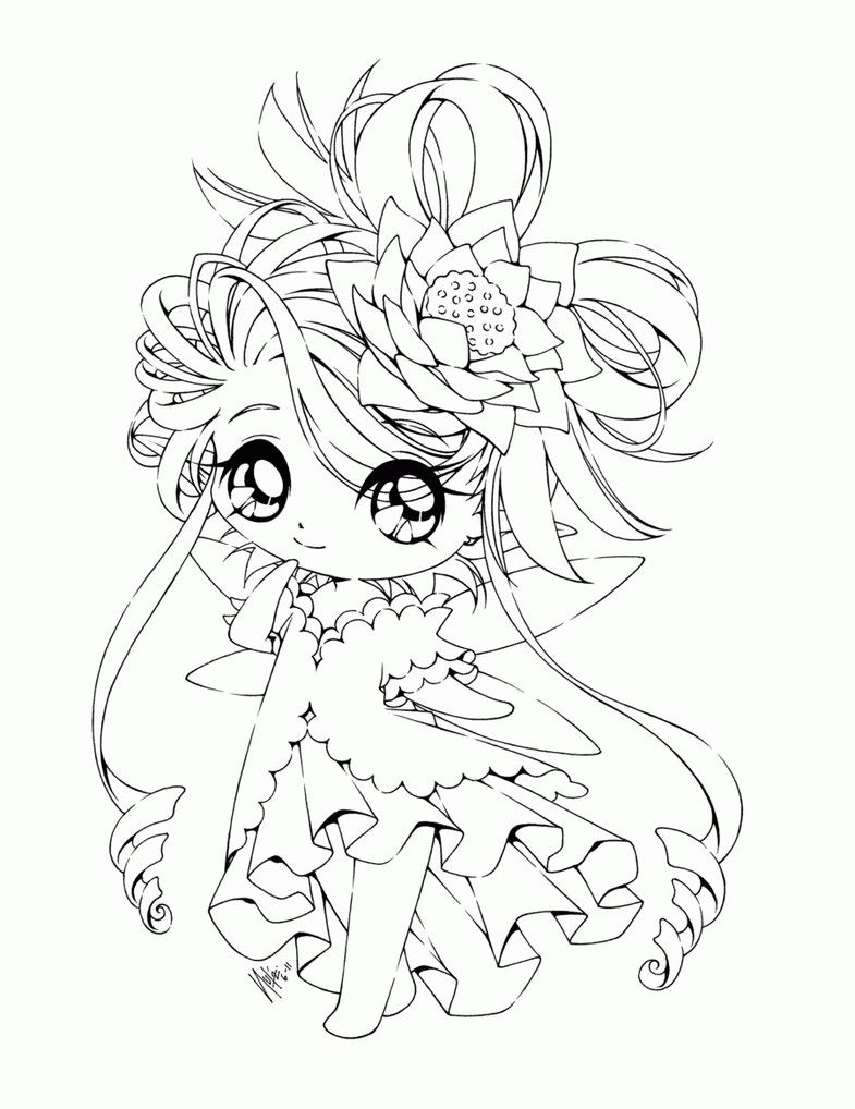 Unique Chibi Coloring Pages With Wallpaper Free