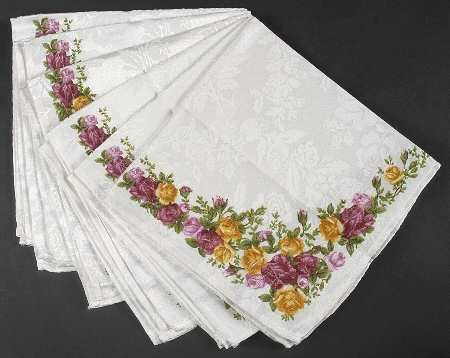 Royal Albert Old Country Roses Set Of 6 Cloth Napkins Country