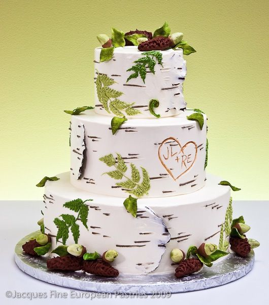 Love This Idea For A Northwoods Or Outdoor Themed Wedding Birch Cakeswedding