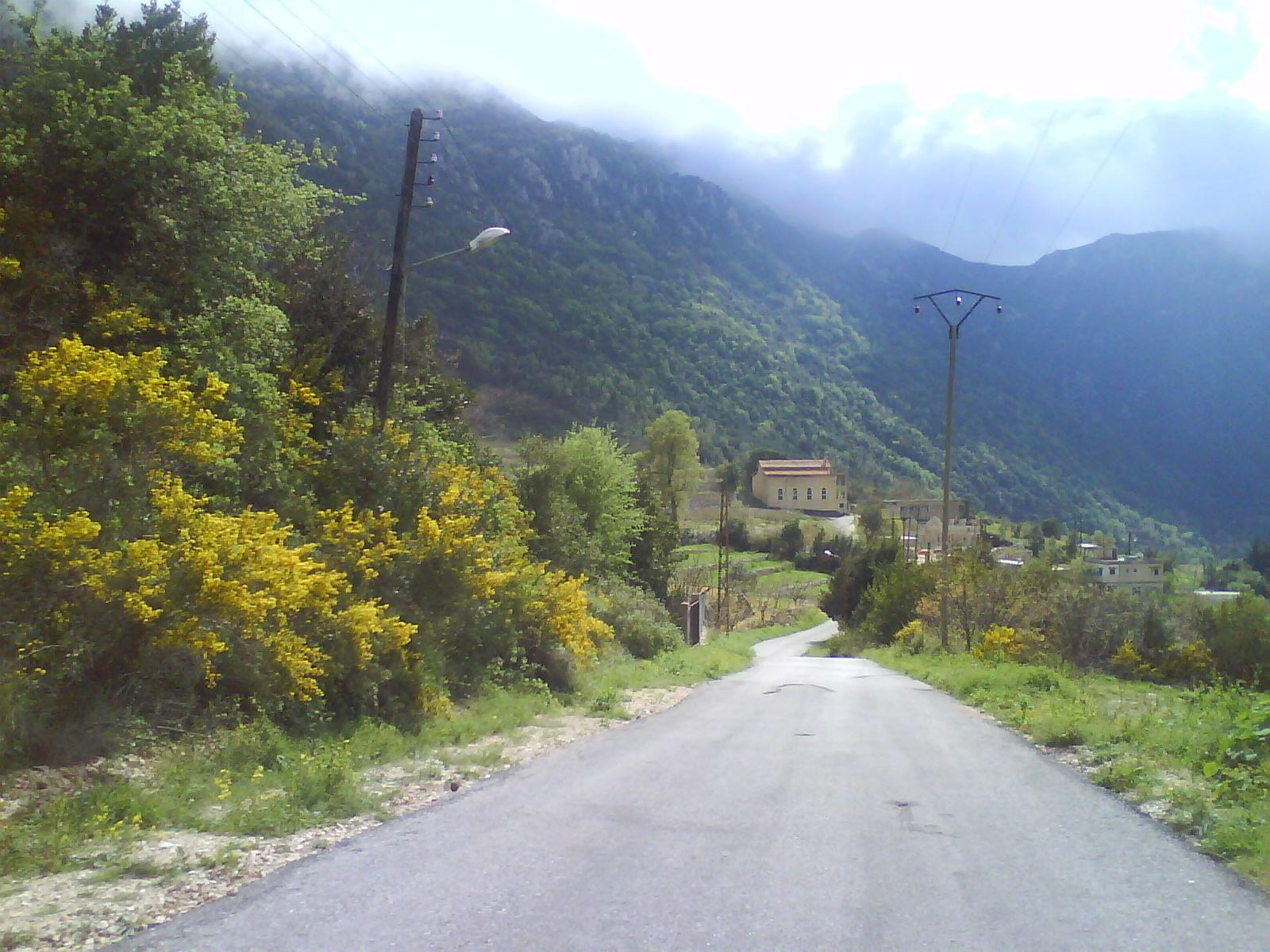 الطريق الى قرية السمرا Country Roads Travel Country