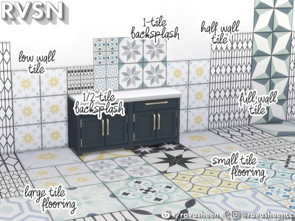 Ravasheen S Groutest Of All Tile In 2020 Sims 4 Cc Furniture Sims 4