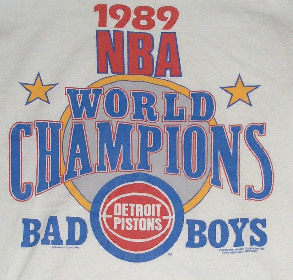 Vintage NBA Bad Boys Tshirt Detroit DetoitPistons