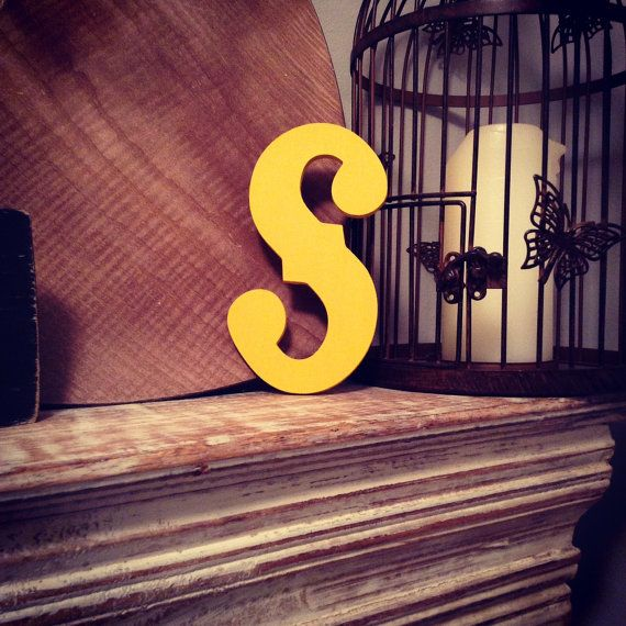 Hand painted Wooden Letter S Wall Letters by LoveLettersMe